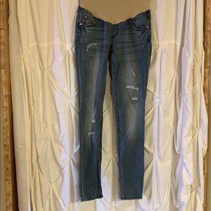 Denim - XS maternity indigo blue jeans